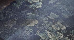 大島紬織り工程見学