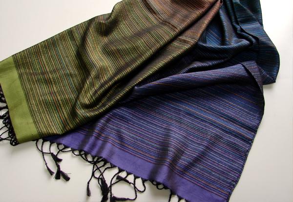 大島紬糸の創作ストール