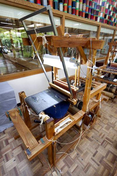 大島紬手織り機