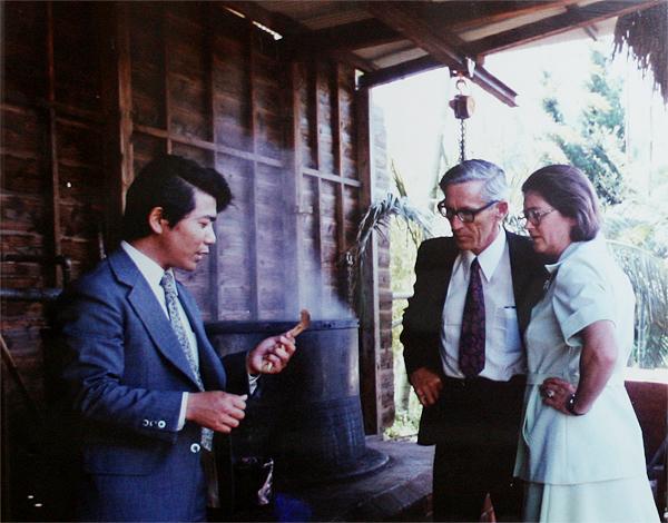 昭和52年4月 在日ニュージーランド大使 ロデリック・M・ミラーご夫妻